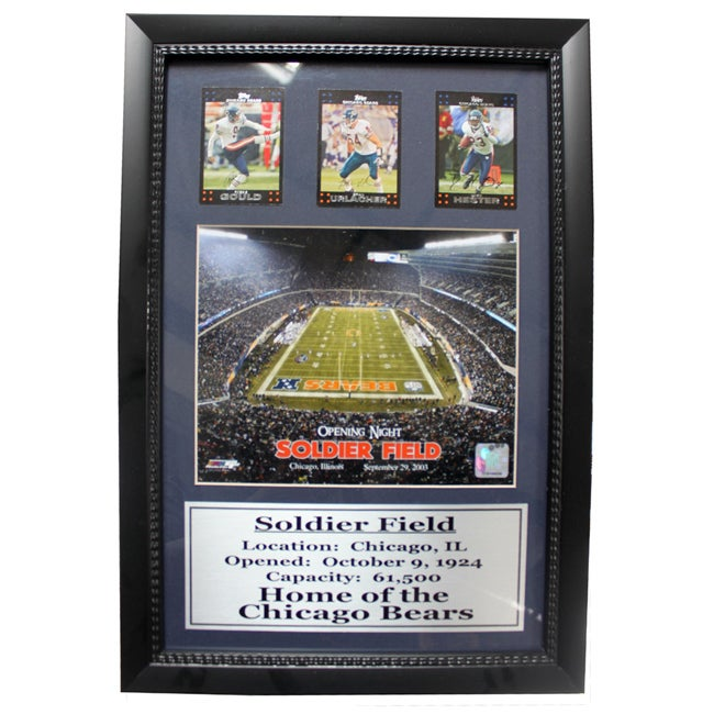 Chicago Bears Soldier Field 3-card Deluxe Frame