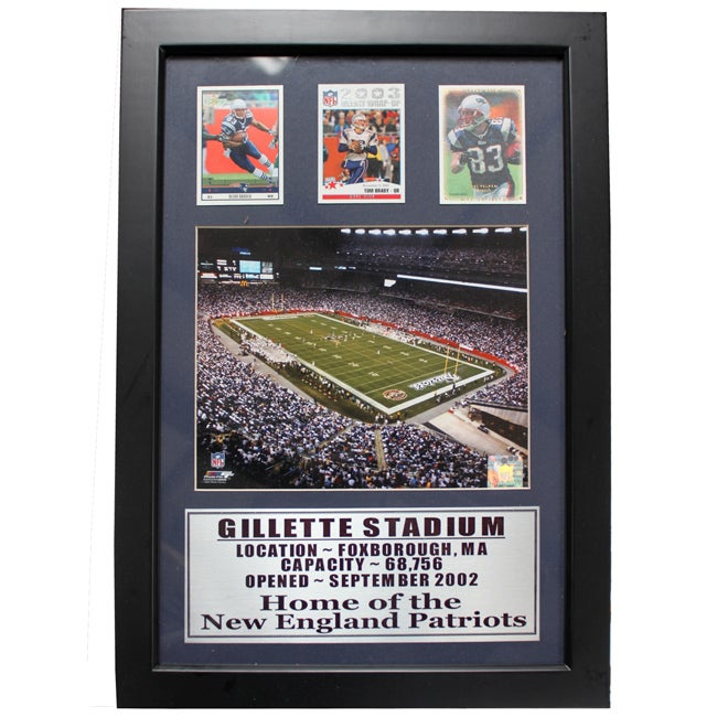 New England Patriots Gillette Stadium 3-card Deluxe Frame