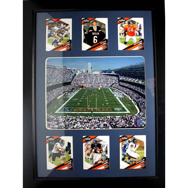 Chicago Bears Deluxe Frame with Soldier Field Photo and Six Cards