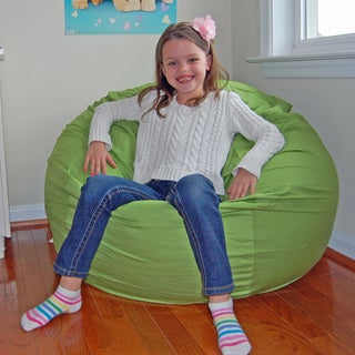Ahh Products Lime Green Cotton Washable Bean Bag Chair