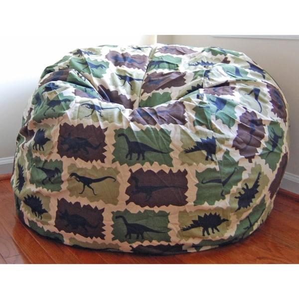 Charming Ahh Products Camouflage Dinosaurs Cotton Washable Bean Bag Chair