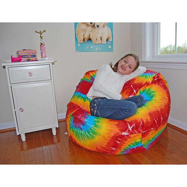Pleasing Ahh Products Rainbow Tie Dye Cotton Washable Bean Bag Chair Squirreltailoven Fun Painted Chair Ideas Images Squirreltailovenorg