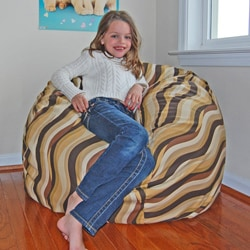 Ahh Products Wavelength Cocoa Cotton Washable Bean Bag Chair