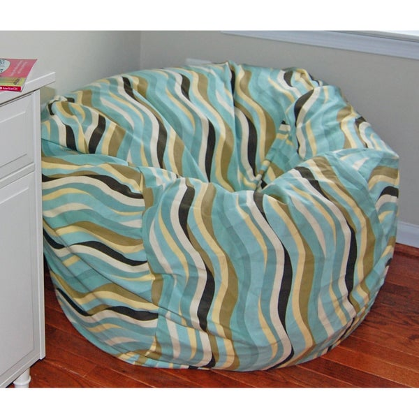 Ahh Products Wavelength Lake Cotton Washable Bean Bag Chair