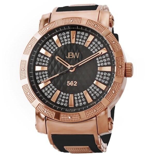 JBW Men's 562 Rose Goldtone Pave Diamond Watch