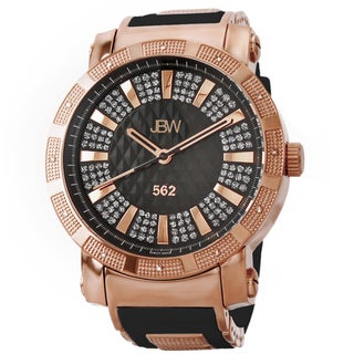 JBW Men's 562 Rose Goldtone Pave Diamond Watch