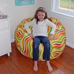 Ahh Products Wavelength Citrus Cotton Washable Bean Bag Chair
