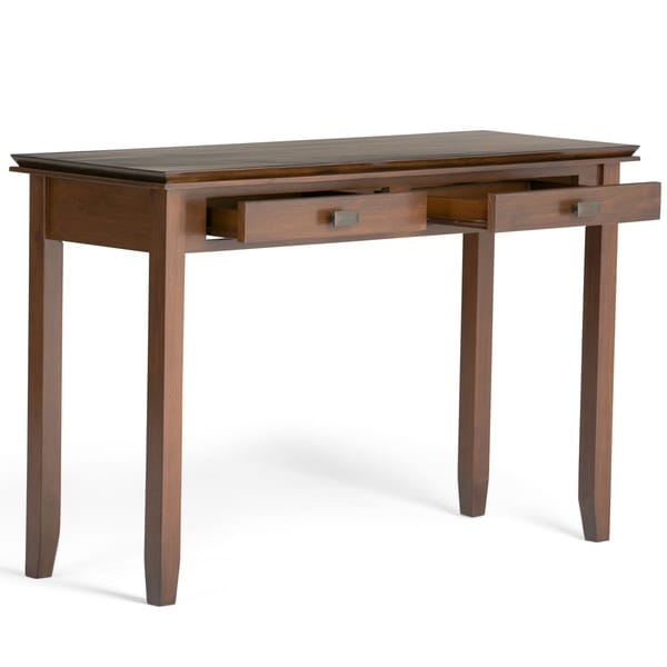 WYNDENHALL Stratford Auburn Brown Console Sofa Table   Free Shipping Today    Overstock.com   14244165