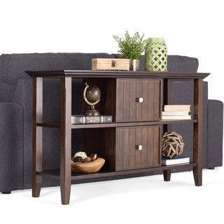 WYNDENHALL Normandy Tobacco Brown Console Sofa Table