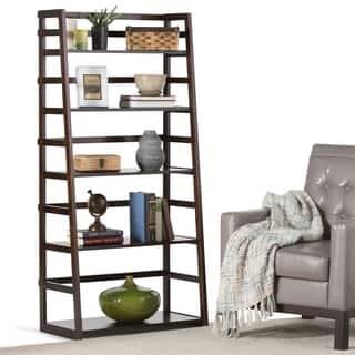 WYNDENHALL Normandy Ladder Shelf Bookcase|https://ak1.ostkcdn.com/images/products/6689614/P14244170.jpg?impolicy=medium