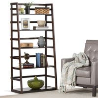 WyndenHall Normandy Pine Wood Ladder Shelf Bookcase