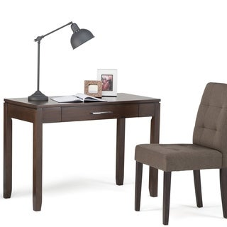 WyndenHall Essex Brown Wood Contemporary Office Desk