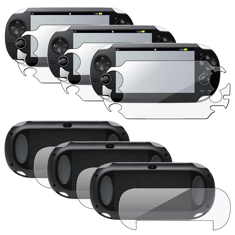 INSTEN Full Body Screen Protector for Sony Playstation Vita (Pack of 3)