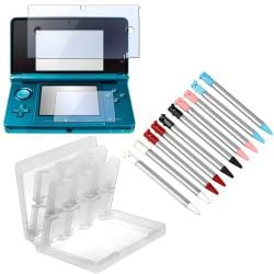 INSTEN Stylus/ Screen Protector/ Game Case Cover for Nintendo 3DS