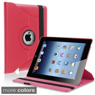 INSTEN Leather Folio Flip Tablet Case with Swivel Stand for Apple iPad 2/ 3/ 4 (Option: Purple)
