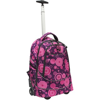 Pacific Gear by Traveler's Choice Horizon Purple Bubbles Rolling 15-inch Laptop Backpack