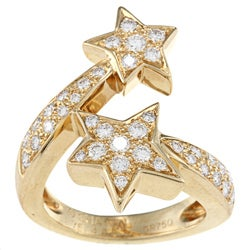 Pre-owned 18k Yellow Gold 1 1/3ct TDW Diamond Comete by Chanel Ring (G-H, VS1-VS2)