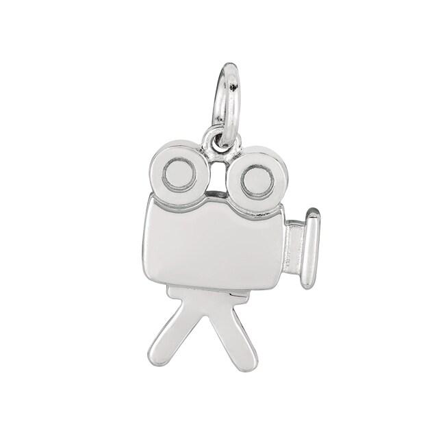 Sterling Silver Movie Camera Charm