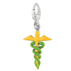 Sterling Silver Caduceus Charm