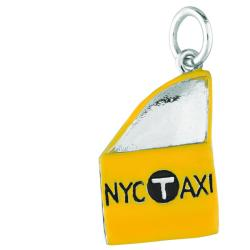 Sterling Silver NYC Taxi Side Door Charm