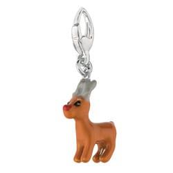 Sterling Silver Reindeer Charm