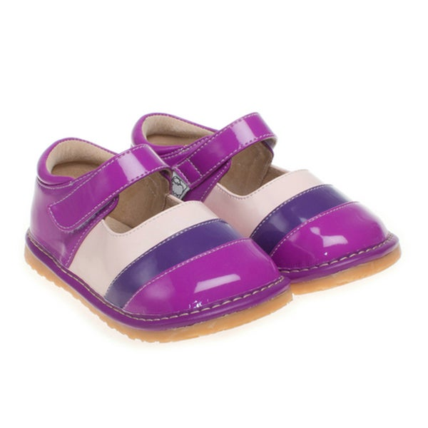 Little Blue Lamb Toddler Purple Squeaky Shoes