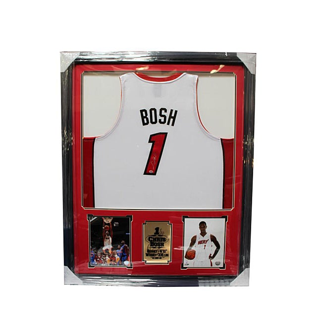 Chris Bosh Autographed Jersey 36-inch x 44-inch Deluxe Frame