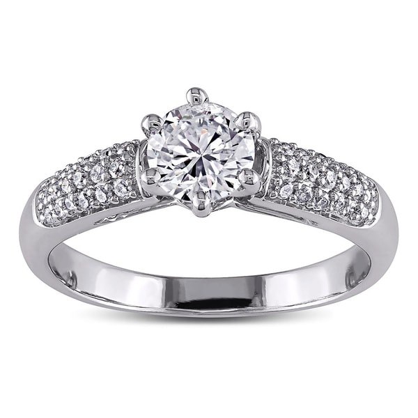 Miadora Signature Collection 14k White Gold 1ct TDW Diamond Engagement Ring (H-I, I1-I2)