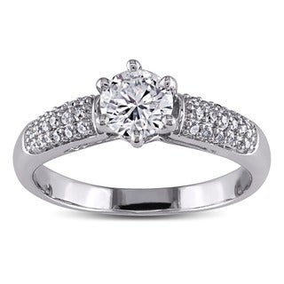 Miadora Signature Collection 14k White Gold 1ct TDW Diamond Engagement Ring (H-I, I1-I2)