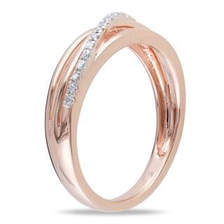 Miadora Sterling Silver Diamond Accent High-polish Ring