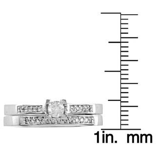 Auriya 10k Gold 1/4ct TDW Round Diamond Bridal Ring Set (I-J, I1-I2)