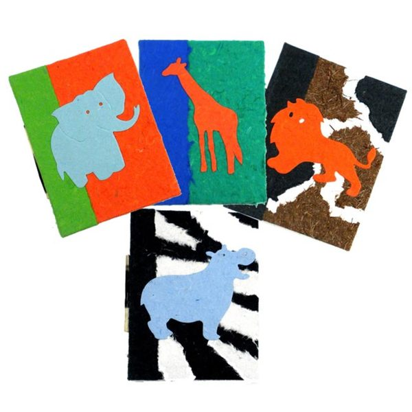 Set of 4 African Mini Notebooks (Zimbabwe)