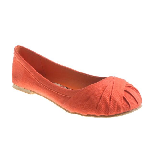 Refresh By Beston Women's Orange LAUREN-01 Ballet Flats