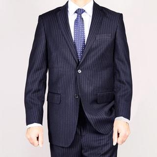 Link to Men's Navy Blue Pinstripe 2-Button Suit Similar Items in Suits & Suit Separates