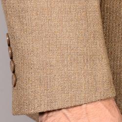 Men's Classic Camel Two-Button Wool Sport Coat - Thumbnail 1