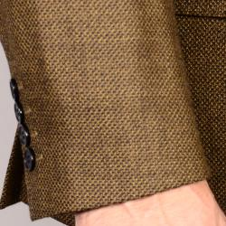 Men's Brown 2-Button Wool Sport Coat - Thumbnail 1