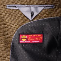 Men's Brown 2-Button Wool Sport Coat - Thumbnail 2