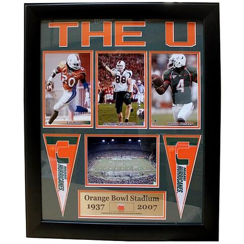 University of Miami Deluxe 'Orange Bowl Stadium Concrete' Frame