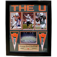University of Miami Deluxe 'Orange Bowl Stadium Concrete' Frame