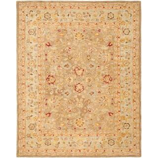 Safavieh Anatolia Handmade Tan / Ivory Wool Rug (11' x 17')