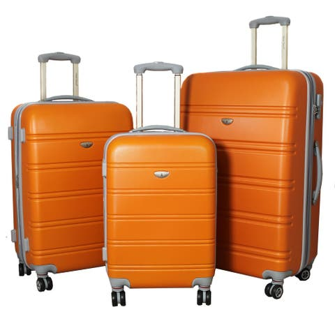 3-piece Lightweight Expandable Hardside Spinner Luggage Set