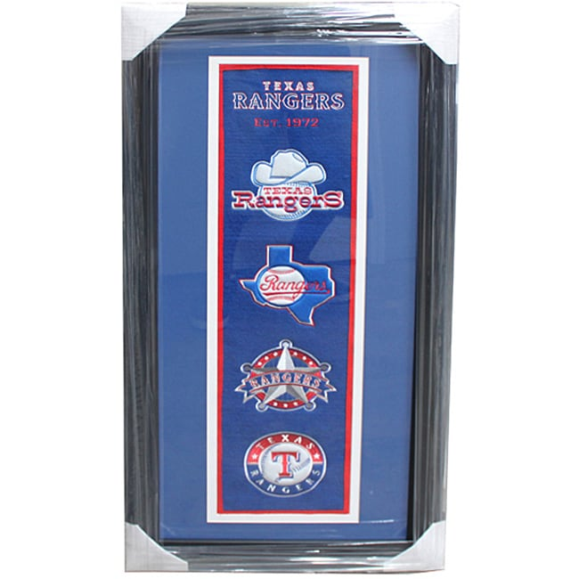 Texas Rangers Logo Nylon Panoramic Frame