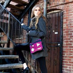 Nicole Lee Dana Crossbody Faux-leather Bag with Animal Print - Thumbnail 2