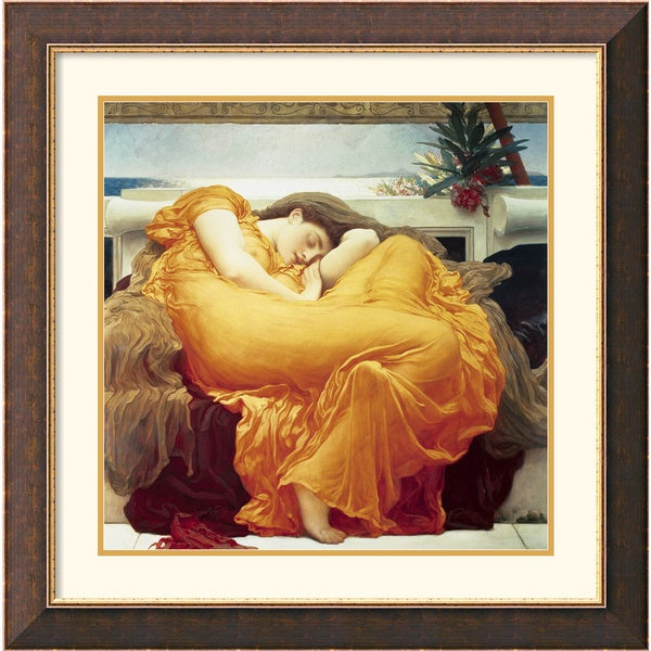 Lord Frederic Leighton 'Flaming June' Framed Art Print