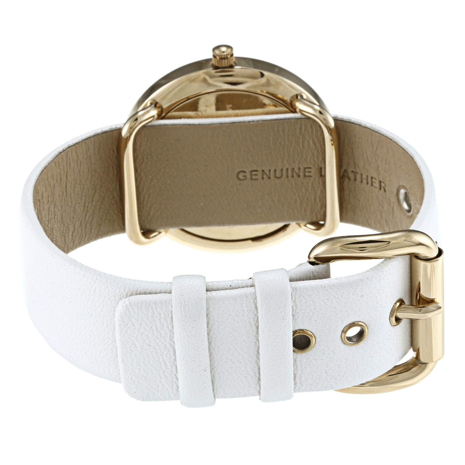 74e2b48e896c6 Shop Marc Jacobs Women's Amy White-and-goldtone Watch - Gold/White - Free  Shipping Today - Overstock - 6691562