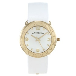 Marc Jacobs Women's Amy White-and-goldtone Watch