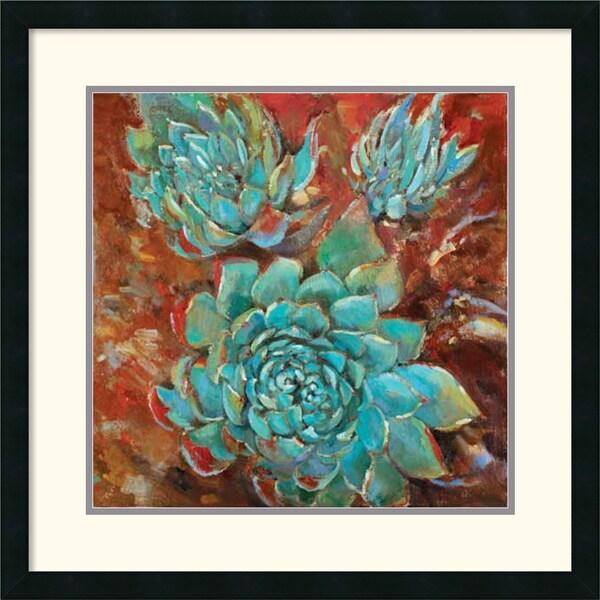 Jillian David Design 'Blue Agave I' Framed Art Print