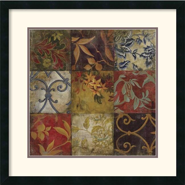 John Douglas 'Floral Mosaic V' Framed Art Print