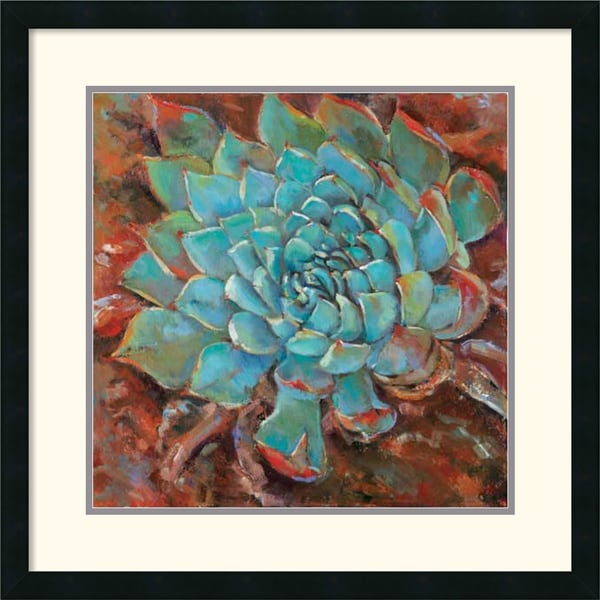 Jillian David Design 'Blue Agave II' Framed Art Print