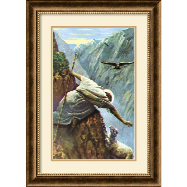 Alfred Soord 'The Lost Sheep' Framed Art Print. Opens flyout.
